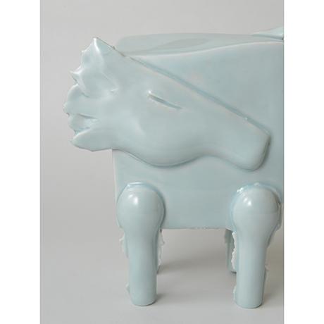 「No.2 鈴木治 青白瓷 馬 / SUZUKI Osamu Artwork 'Horse', Bluish white porcelain」の写真 その6