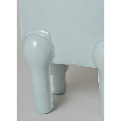 「No.2 鈴木治 青白瓷 馬 / SUZUKI Osamu Artwork 'Horse', Bluish white porcelain」の写真 その7