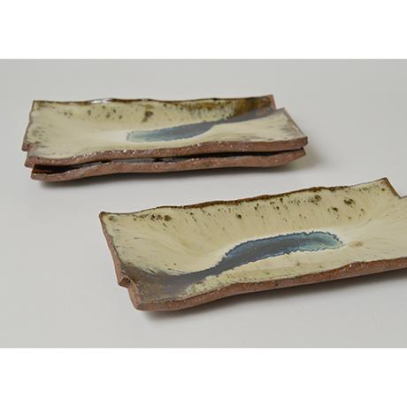 「No.167 朝鮮唐津長方皿揃 A set of 5 rectangular plates, Chosen-karatsu」の写真 その3