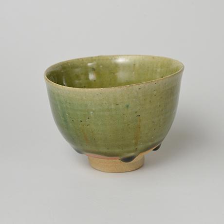 「No.28 織部小服茶碗 / Small tea bowl, Oribe」の写真 その2