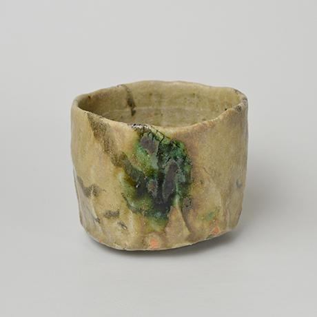 「No.4 黄瀬戸茶碗 / Tea bowl, Oribe-kuro」の写真 その1