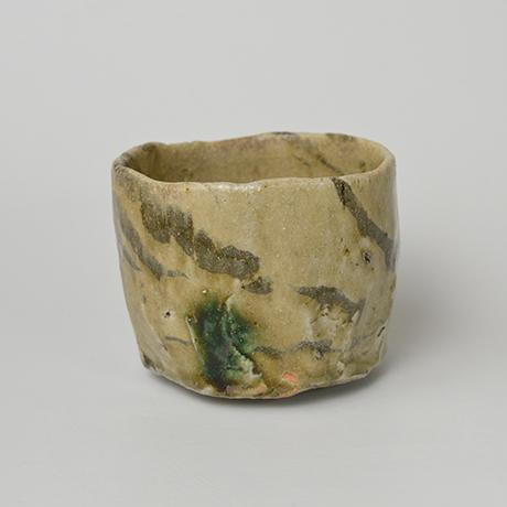「No.4 黄瀬戸茶碗 / Tea bowl, Oribe-kuro」の写真 その3
