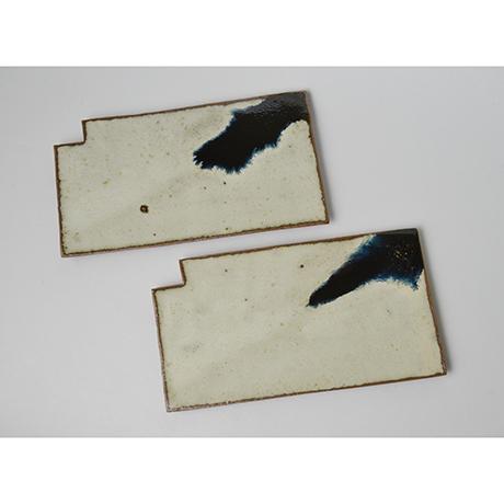 「図46 (No.53) 朝鮮唐津羅漢皿揃 A set of 5 plates, Chosen-karatsu」の写真 その1