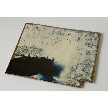「No.67 朝鮮唐津陶板 Platter, Chosen-karatsu」の写真 その1