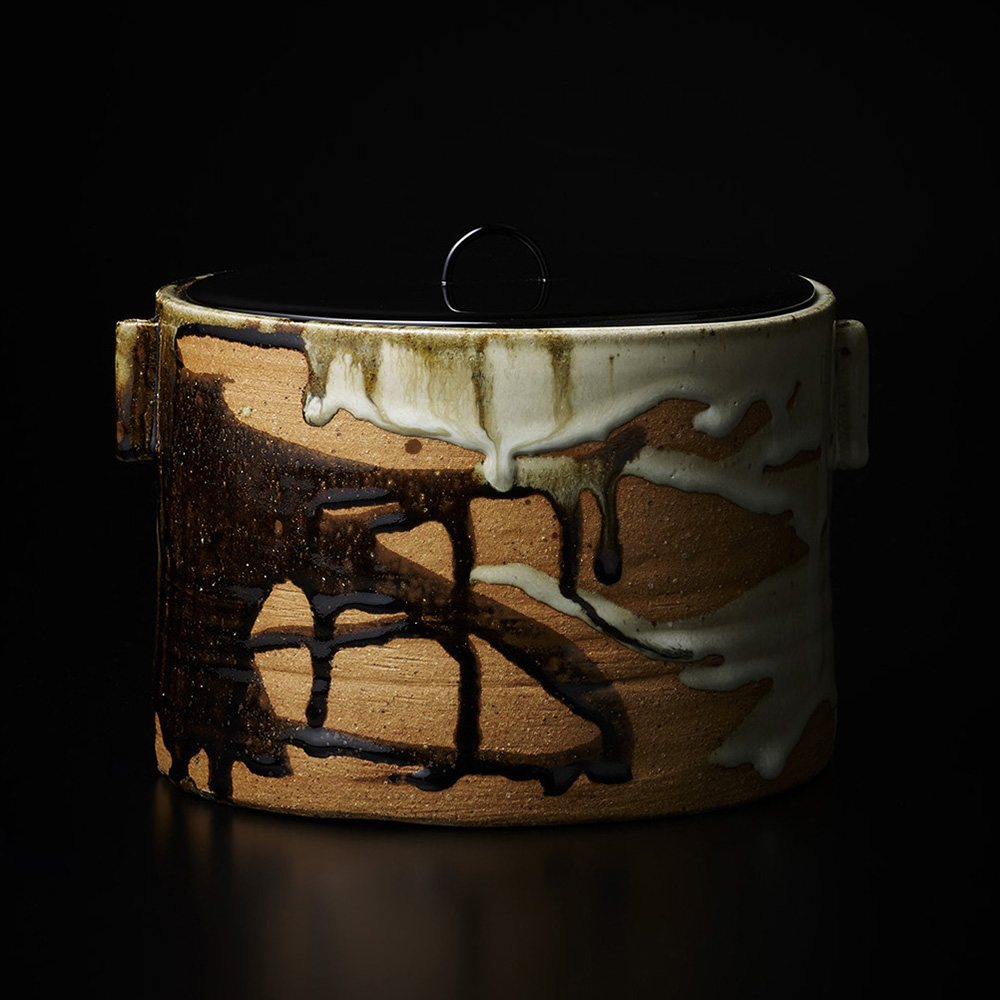 「No.17 中里無庵 朝鮮唐津一重口水指 / NAKAZATO Muan Water jar, Chosen-karatsu, Hitoeguchi shaped」の写真 その2