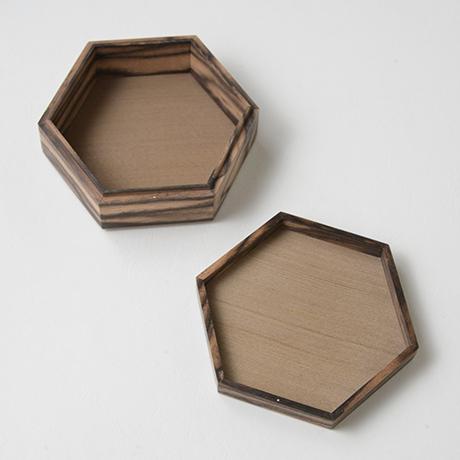 「No.10 黒柿孔雀杢六稜小箱 / Small box, Black persimmon」の写真 その2