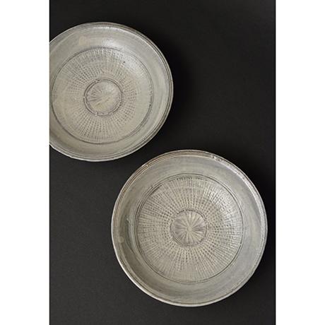 「No.100 三島皿揃 五 / A set of 5 plates, Mishima」の写真 その1