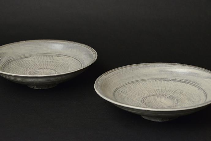 「No.100 三島皿揃 五 / A set of 5 plates, Mishima」の写真 その4