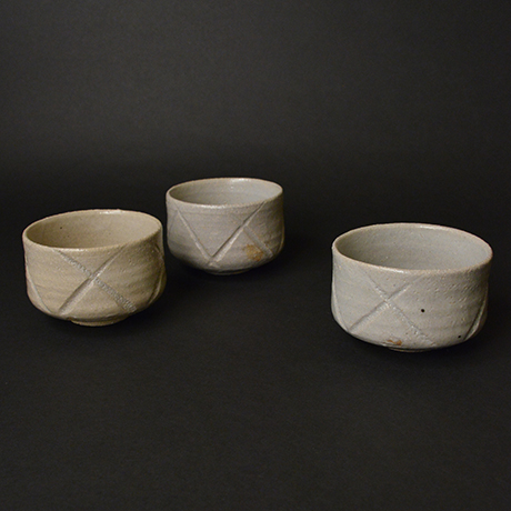 「No.103 彫唐津向付揃 五 / A set of 5 plates, Hori-karatsu」の写真 その1
