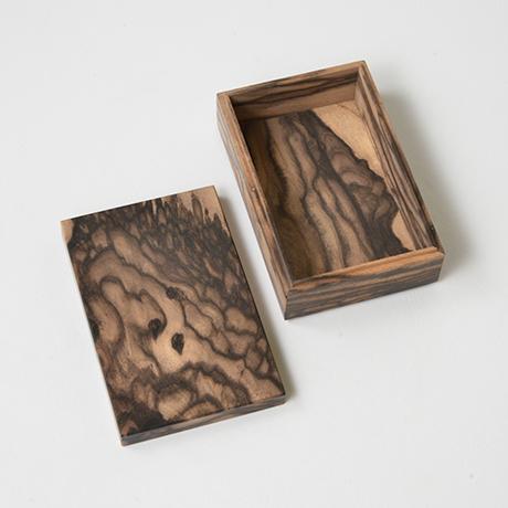 「No.11 黒柿孔雀杢名刺入れ / Card case, Black persimmon」の写真 その3