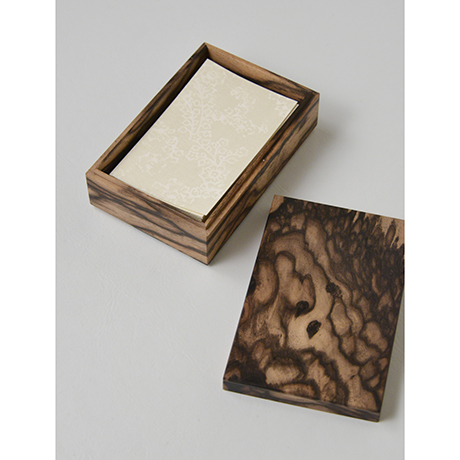 「No.11 黒柿孔雀杢名刺入れ / Card case, Black persimmon」の写真 その5