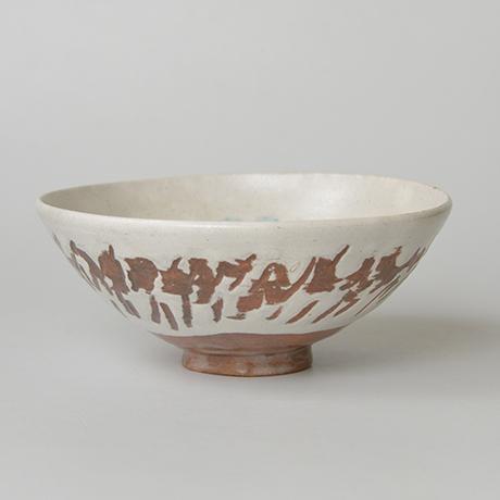 「No.11 石黒宗麿 緑彩草花文 / ISHIGURO Munemaro Tea bowl, Green glazed, Flower motif」の写真 その6
