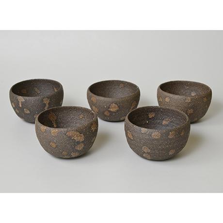 「No.12 加守田章二 炻碗 五客 / KAMODA Shoji A set of 5 bowls, Unglazed Stoneware」の写真 その1