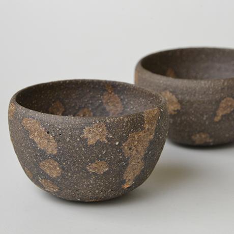 「No.12 加守田章二 炻碗 五客 / KAMODA Shoji A set of 5 bowls, Unglazed Stoneware」の写真 その4