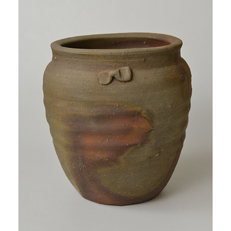 「No.12 金重陶陽 備前種壷水指 / KANESHIGE Toyo Vessel (Water jar), Bizen, Tanetsubo shaped」の写真 その6