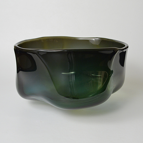 「No.13 益田芳徳 硝子削釉水指 / MASUDA Yoshinori Water jar, Glass」の写真 その2