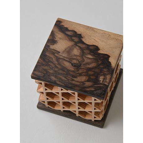 「No.13 神代栗錫象嵌黒柿かごめ文鎮 / Paperweight, Japanese chestnut, Black persimmon, Tin inlay」の写真 その4