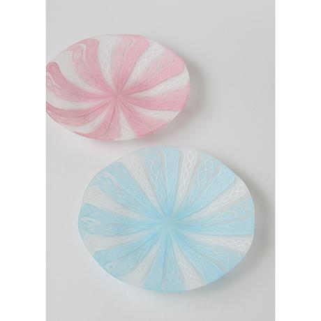 「No.14 藤田喬平 手吹ヴェニス銘々皿 / FUJITA Kyohei A set of 5 plates, Glass」の写真 その2
