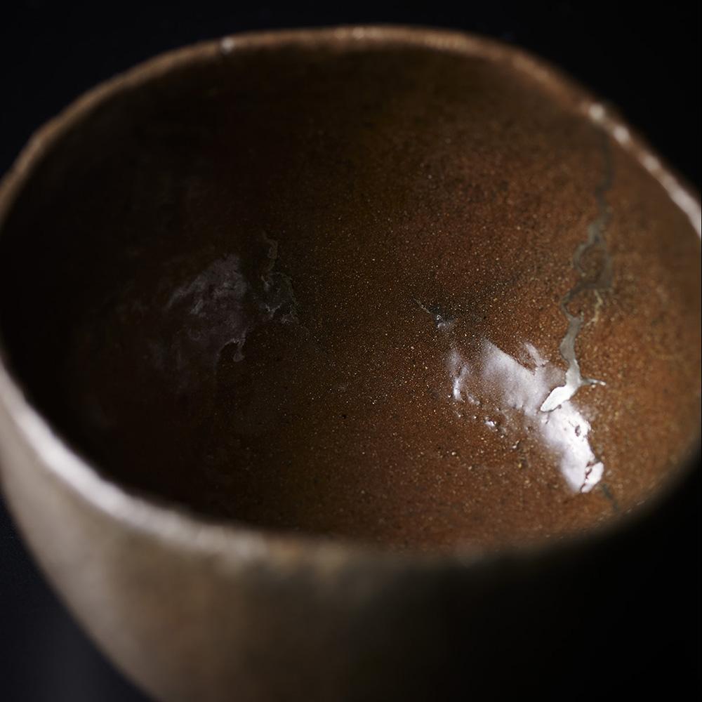 「No.16 山田山庵 赤 幡龍 / YAMADA Sanan Tea bowl, Red raku ware, 'Banryu (Lying dragon)'」の写真 その2