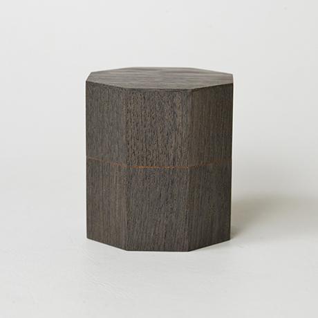 「No.17 神代栗八稜茶器 / Tea caddy, Japanese chestnut」の写真 その1