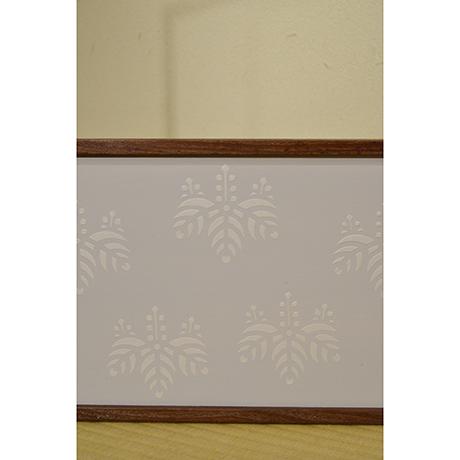 「No.18 桑縁京唐紙風炉先屏風 / Folding screen with Karakami, Mulberry tree」の写真 その3