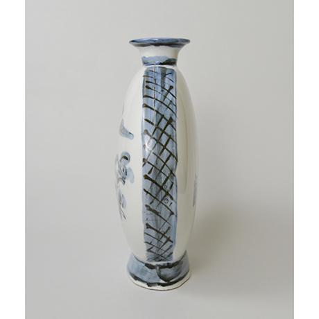 「No.19 富本憲吉 絵 染付風景扁壷 / TOMIMOTO Kenkichi (Painted) Flat vessel, Sometsuke」の写真 その3