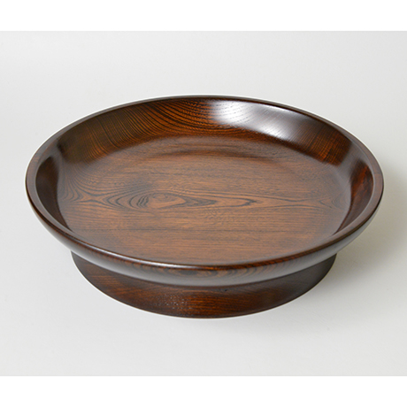 「No.21 本欅拭漆黒盆 / Lacquer tray, Zelkova」の写真 その1