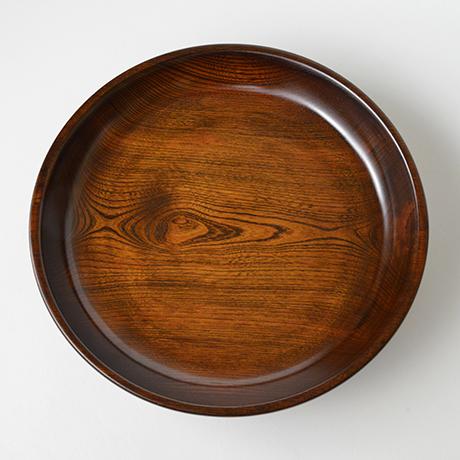 「No.21 本欅拭漆黒盆 / Lacquer tray, Zelkova」の写真 その3