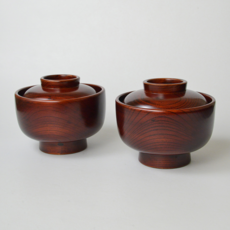 「No.22 黒田辰秋 溜漆欅大平椀(五客) / KURODA Tatsuaki A set of 5 bowls, Zelkova tree」の写真 その2