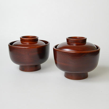 「No.22 黒田辰秋 溜漆欅大平椀(五客) / KURODA Tatsuaki A set of 5 bowls, Zelkova tree」の写真 その3