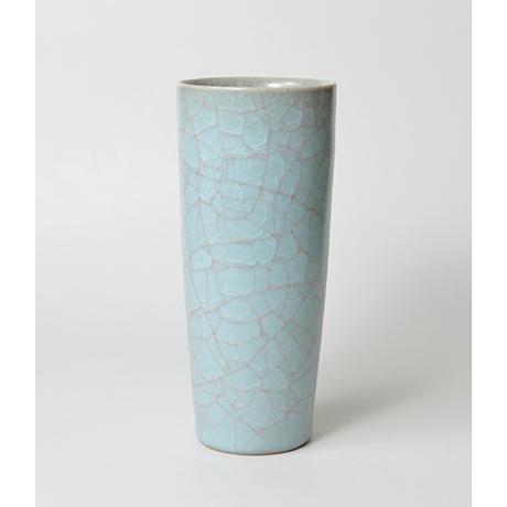 「No.23 伊藤秀人 青瓷花入 / ITO Hidehito Vase, Celadon」の写真 その1