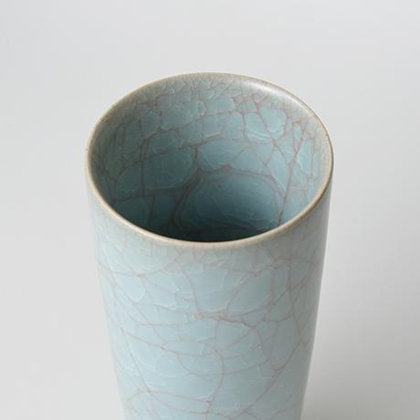 「No.23 伊藤秀人 青瓷花入 / ITO Hidehito Vase, Celadon」の写真 その3