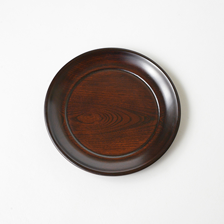 「No.24 本欅拭漆小盆 / Lacquer tray, Zelkova」の写真 その1