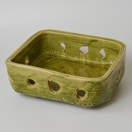 「No.25 金重巖 織部菓子器 / KANESHIGE Iwao Bowl, Oribe」の写真 その1
