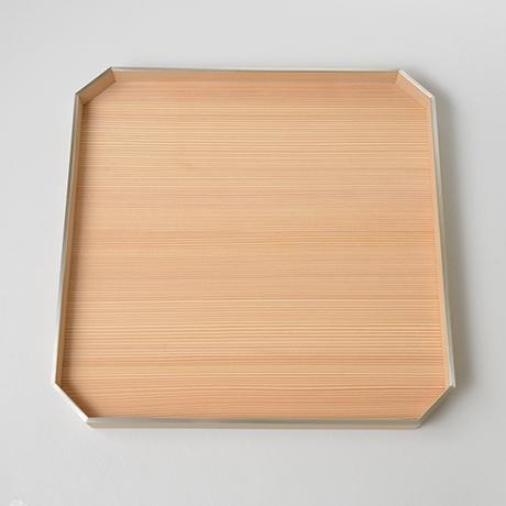 「No.25 錫縁杉角切折敷 / Meal tray, Japanese cedar」の写真 その3