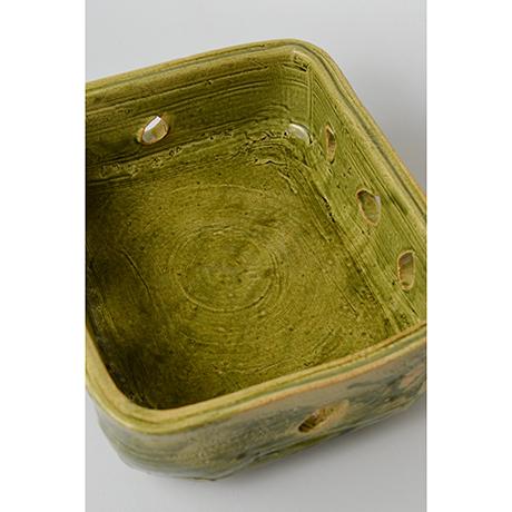 「No.25 金重巖 織部菓子器 / KANESHIGE Iwao Bowl, Oribe」の写真 その3