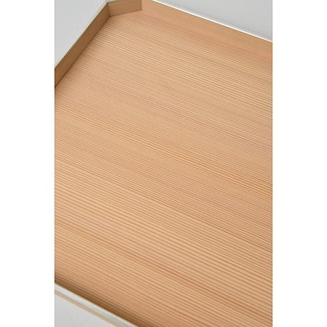 「No.25 錫縁杉角切折敷 / Meal tray, Japanese cedar」の写真 その4