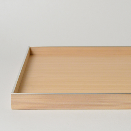「No.26 錫縁杉角不切折敷 / Meal tray, Japanese cedar」の写真 その2