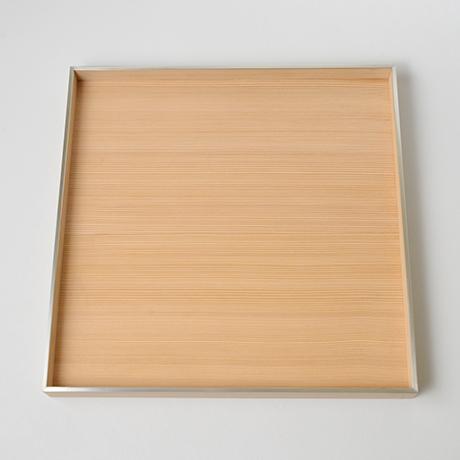 「No.26 錫縁杉角不切折敷 / Meal tray, Japanese cedar」の写真 その3