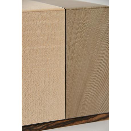 「No.28 神代杉象嵌箱「行雲」 / Ornamental box, Japanese cedar, Maple, Black persimmon」の写真 その3