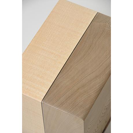 「No.28 神代杉象嵌箱「行雲」 / Ornamental box, Japanese cedar, Maple, Black persimmon」の写真 その4