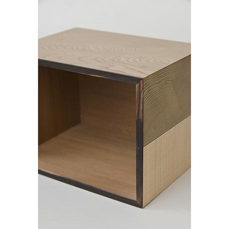 「No.28 神代杉象嵌箱「行雲」 / Ornamental box, Japanese cedar, Maple, Black persimmon」の写真 その8