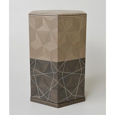 「No.29 神代杉神代栗木画錫象嵌箱 / Ornamental box, Japanese cedar, Japanese chestnut, Tin inlay」の写真 その2