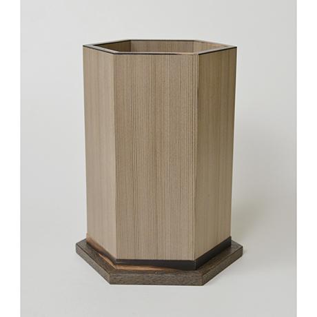 「No.29 神代杉神代栗木画錫象嵌箱 / Ornamental box, Japanese cedar, Japanese chestnut, Tin inlay」の写真 その3