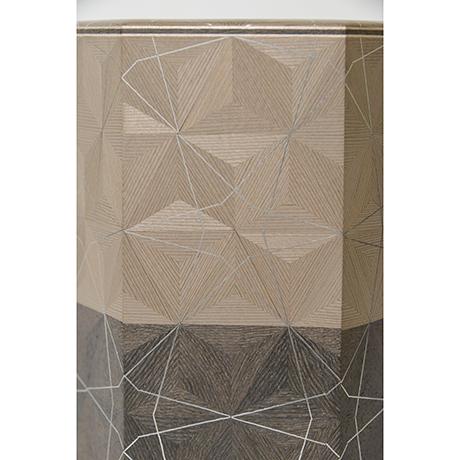 「No.29 神代杉神代栗木画錫象嵌箱 / Ornamental box, Japanese cedar, Japanese chestnut, Tin inlay」の写真 その6