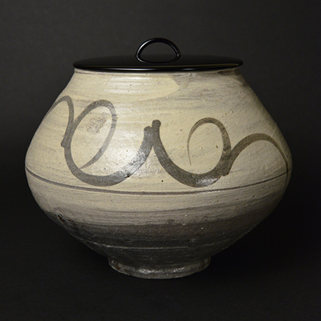 「No.3(DM) 絵刷毛目水指 / Water jar, E-hakeme」の写真 その1