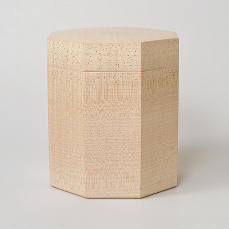 「No.3(DM) 楓八角錫象嵌茶箱 / Box for tea ustensils, Maple, Tin inlay」の写真 その1