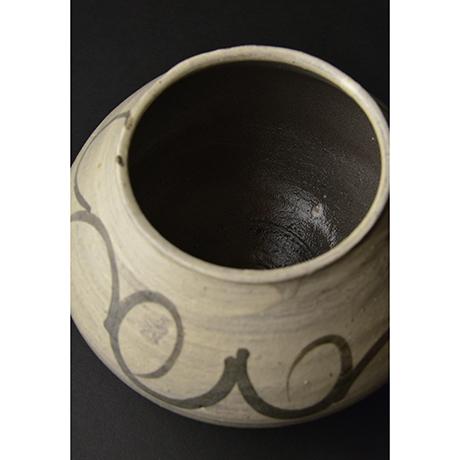 「No.3(DM) 絵刷毛目水指 / Water jar, E-hakeme」の写真 その3