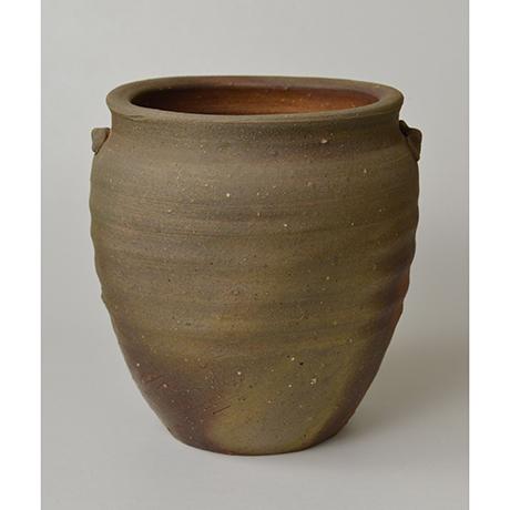 「No.12 金重陶陽 備前種壷水指 / KANESHIGE Toyo Vessel (Water jar), Bizen, Tanetsubo shaped」の写真 その5