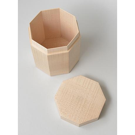 「No.3(DM) 楓八角錫象嵌茶箱 / Box for tea ustensils, Maple, Tin inlay」の写真 その3